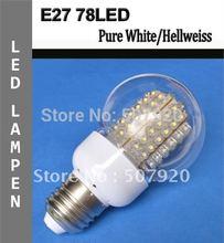 Energy saving lamp Screw E27 78LED globe Lamp led Light Lamp Bulbs Spotlight Cover Saving Light(China (Mainland))