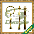 Top item Circle design 3 tiers cake stands fittings/cake plate handles- (gold & silver) FREE SHIPPING!