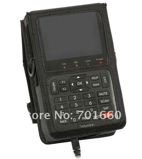 2011 new design 3.5 SATLINK WS6906 DVB-S Digital Satellite Finder Meter free search worldwide satellite signal(China (Mainland))