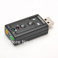 Free shipping USB to 3D AUDIO SOUND CARD ADAPTER VIRTUAL 7.1 ch