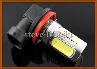 Free shipping 2pcs H8 7.5W high power white LED car bulb front head led car bulb fog light