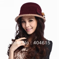 wholesale lady winter fashionable high quality warm thick polar fleece bucket hats