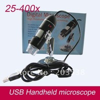 2012 Christmas gift 2.0Mega Pixel USB Digital Microscope usb microscope 400x Zoom with Microscopic measurement software 25-400x
