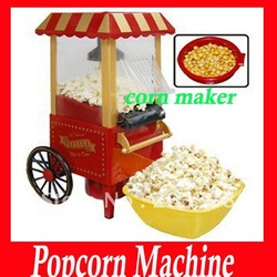 Free shipping diy mini carriage shape nostalgic hot air popcorn machine poper pop corn maker popcorn popper(China (Mainland))
