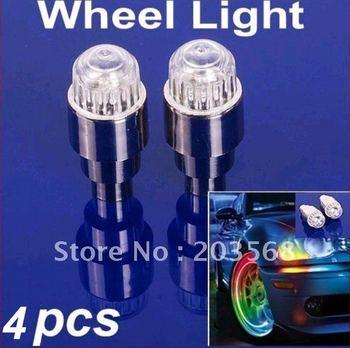 2pair Colorful Bike Cycling Motor Car Tire Tyre Valve Gaps Stem Wheel LED Light Lamp