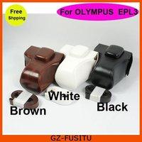 For Olympus Pen E-PL3 EPL3 14-42mm lens  leather camera bag