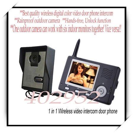 Wireless video door phone intercom systems (Take photos, remote control unlock, hands-free, 16pcs door bells, night vision.etc)(China (Mainland))