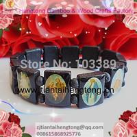 black wooden religious bracelet/saint bracelet/icon bracelet special offer