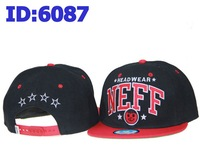 Free shipping NEFF Black red Snapbacks Caps snapback cap, Adjustable Snap Back hat, Mix order allowed hats