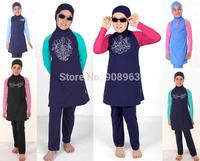 Wholesale Muslim swimwear for kids swimsuits styles kids swimsuits for muslim children muslim swimwear