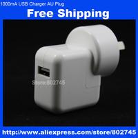 1000mA AU plug USB power adapter charger for iPhone 5 5s 5c ipod ipad mini