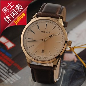 Free Shipping,Personalized ideas leather watch The combination of business and leisure watch,Elegant Men's Wrist Watch. Coffee