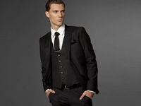 Mens Wear 2012 Fashion Business Suit Custom Made Suit Black Three-piece Suit Men In Suits Men Clothes MS0256