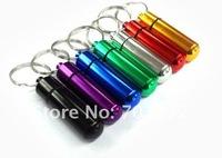 30pcs/lot freeshipping Multiple Colors Stainless Steel Gallipot for Pills + Cylindrical Design, Pill Box, Pill Bottle