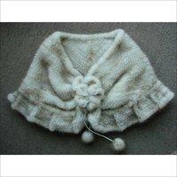 EMS FREE SHIPPING*HOT*100% European Mink Fur Poncho/Fur Scarf, mink knitted fur SU-1148
