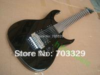 Free shipping Ib black k7 electric guitar 7 strings rosewood fretboard no inlay flyod rose tremolo