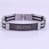 TOP Quality Men Stainless Steel ID Bracelet & Bangle
