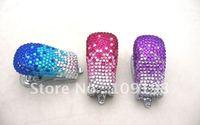 the best choice for Christmas gift Crystal novelty metal rapid stapler+100%handmade set with diamond