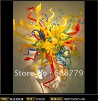 Free Shipping Hand Blown Glass Arts Multicolor Wall Light-LRW008