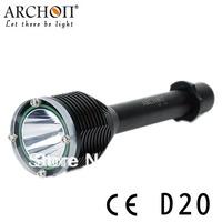 ARCHON D20 XM-L T6 1000 lumens bright flashlights diving flashlight diving 100 meters