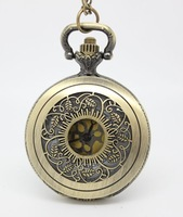 Pocket & Fob Watches,free shipping medium size golden surface leaf pocket watch necklace ,40*40mm size. chain length : 80cm