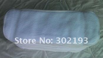 free shipping 50pcs cotton insert, cloth diaper insert, washable insert