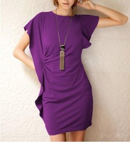 6 colors Hot Seller free shipping Sexy ladies Summer casual  dress Fahsion party dress above knee black purple blue gray