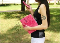 Hot ,new !cute case for ipad 2 ,horizontal leather Case for apple ipad 2,with stand 30pcs/lot Free Shipping