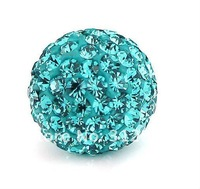 Wholesale Shamballa beads, New Shamballa beads 10mm Micro Pave CZ Disco Ball beads, free shipping,Green color BE6