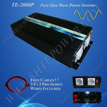 DC 24v to AC 220v 2000w power inverter, prue sine wave power inverter, solar invertor,