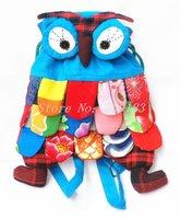 Free shipping  2013 hot Wholesale 5pcs Handmade Patchwork Single shoulder bag Owl Bag Purse Linen Wallet