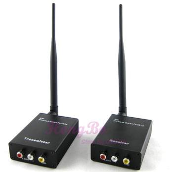 Guaranteed 100%  2000m 2W 2.4G Wireless AV Video Sender + Receiver