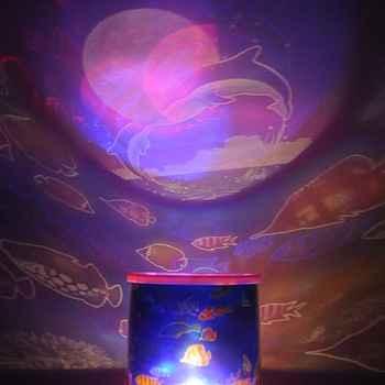 New Amazing Beauty Ocean Fish Sea Expert LED Projector Night Light #3289