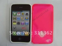 200pcs/lot Hottest Wholesale S-Line Shape Anti-Slip TPU Fitted Case Cover Skin for iphone 4 4G 4S