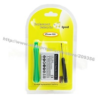 Replacement for iphone 3GS 3.7V 1600mAh Li-ion battery High Quality High capacity brand new dropship cheap wholesale