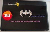 Car 3D Chrome Badge Emblem Sticker with retail gift box,metal decals,Auto labels,Silver Bat batman decorative parts,accessories