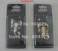 Gift box pack-Car Scorpion Sticker 3D Chrome Badge Emblem, automotive metal decals,Auto label,decorative parts,super accessories