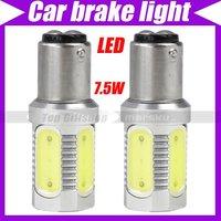 (2pcs/lot)7.5W Car 1157C Tail Brake White LED Light Bulb Lamp  #2489