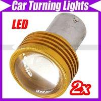 2 x 3W LED Car Turning Lights Bulbs DC 12V  White  #2496