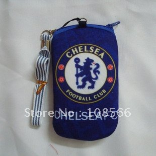 Chelsea football team cell phone pocket / bule mobile phone bag