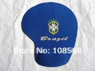 Brazil soft wrist mouse pad/ brasil fans souvenir