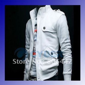 New Casual Fashion Trend Styling Men's Jacket coat Korea Slim Sexy Sweatshirt 4 Colors S,M,L,XL, Free Shipping