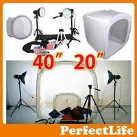 "40"" 20"" Photo Studio Light Tent Box Kit, 2 light stands,1 Tripod Hot sale A042AZ004"