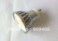 Wholesale Freeship LED Spotlight 20SMD 5050 LED Lamp GU10 Base 4W Warm Cool White With Cover High Brightness 100PCS/Lot