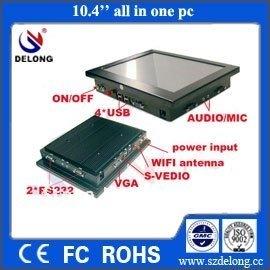 mini 10.4 inch LCD Fanless Car  POS PC