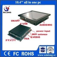 mini 10.4 inch LCD Fanless Car  POS PC