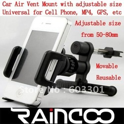 free shipping Car air vent mount holder, cell phone holder on car air vent, mobile phone mount on car air vent, retail packing(China (Mainland))