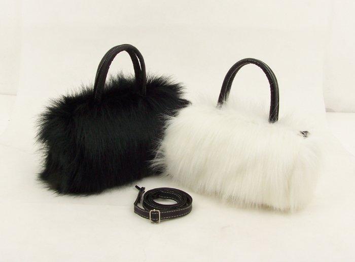Wholesale price! Fashion plush fur bag,cute bags fashion handbags tote bags 2-color,Free shipping!(China (Mainland))