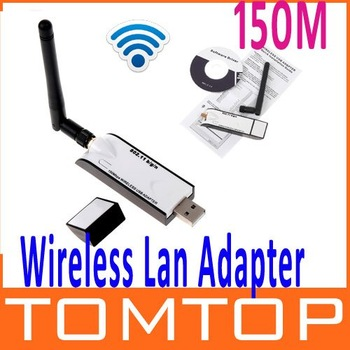 Mini USB Wireless LAN Adapter 150M  802.11N  Wifi Adapter Wireless receiver with Detachable Antenna