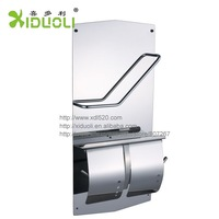 Xiduoli Free shipping 304 stainless steel Toilet Tissue Holder  With Newspaper Magazine Holder XDL-6805 drop shipping